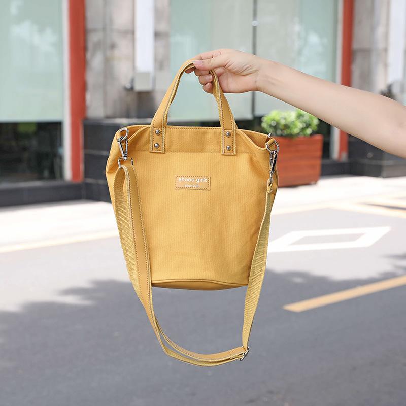 手提水桶包女2020夏季新款帆布包韓版 ins爆款單肩斜跨帆布包廠家直銷現貨