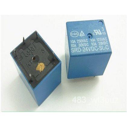 現貨-SRD-24VDC-SL-C繼電器24V 5腳繼電器