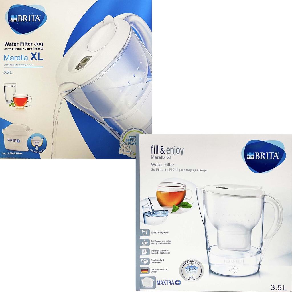 德國製 Brita Marella XL 馬利拉 3.5L 濾水壺 白色 1壺1芯 內含maxtra濾芯1個