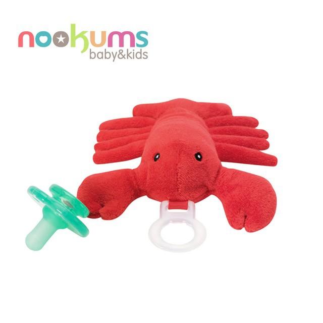 美國 nookums 寶寶可愛造型安撫奶嘴/玩偶-龍蝦哥