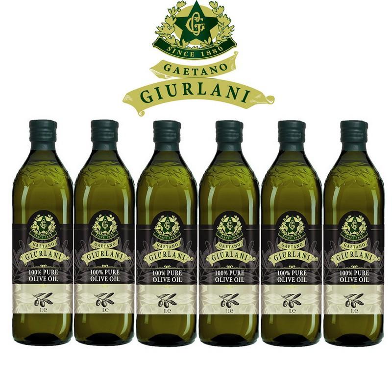 義大利Giurlani超值純橄欖油禮盒組(1000ml x 6瓶)