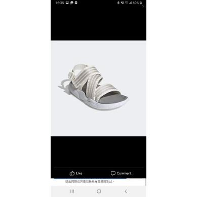 Adidas 7號白色繃帶涼鞋