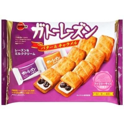 [哈日小丸子]北日本奶油焦糖葡萄乾餅乾(2種類/10枚)