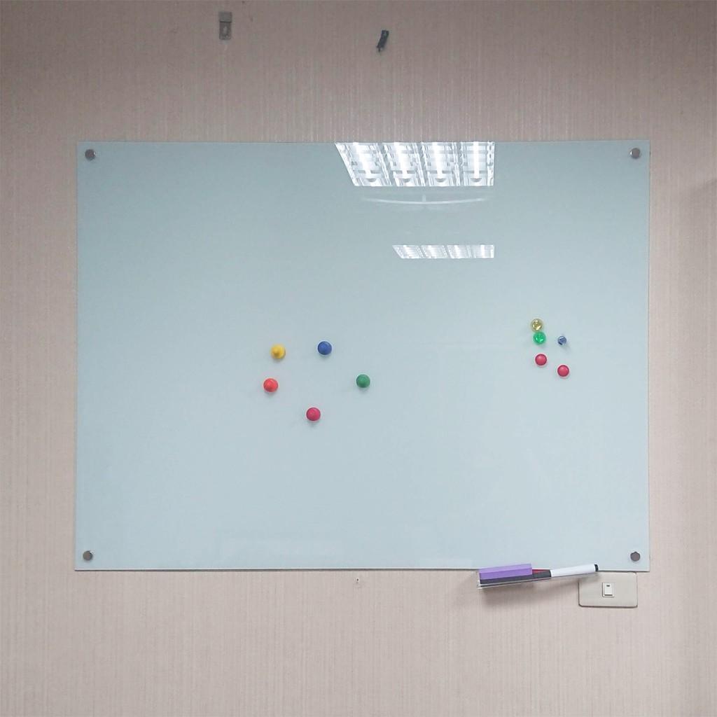 [黑白板怪獸]現貨 超便宜!90*120玻璃白板 磁性 鋼化玻璃 創意白板 會議室紀錄 商店宣傳 免運 餐廳菜單 裝飾品