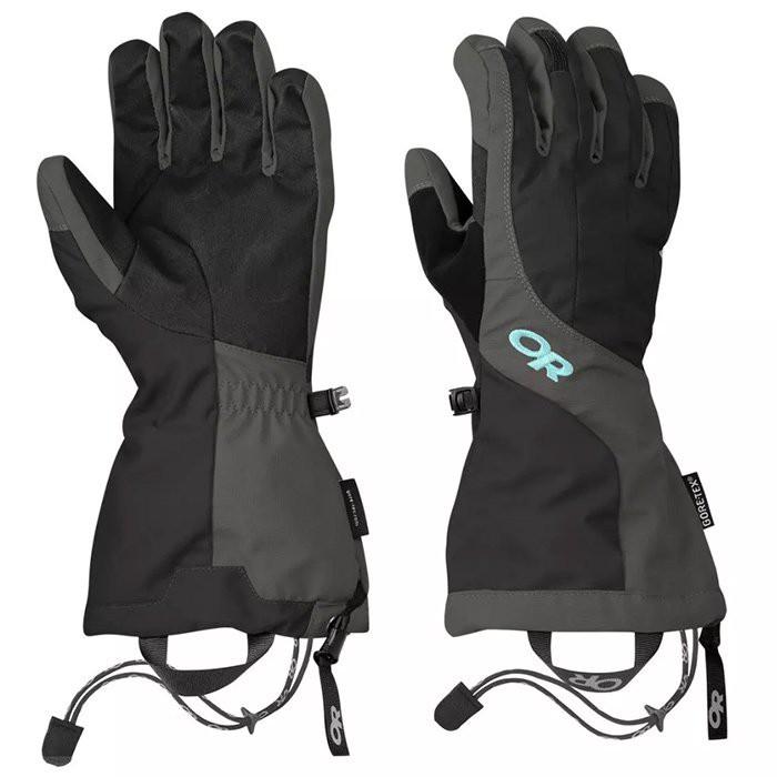【Outdoor Research 美國】Arete 二件式防水手套 滑雪手套 女款 黑/碳灰(271616-0189)