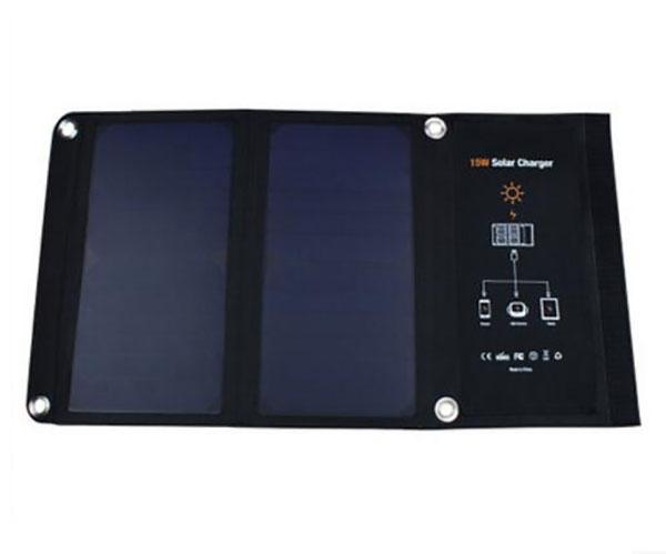 【太陽能充電寶】Sunpower15W太陽能折疊充電包 戶外5v便攜快充 手機平板充電器