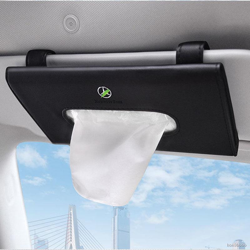 熱銷。現貨☃◈車載紙巾盒車用遮陽板紙巾盒套掛式汽車紙巾盒車內抽紙盒創意用品
