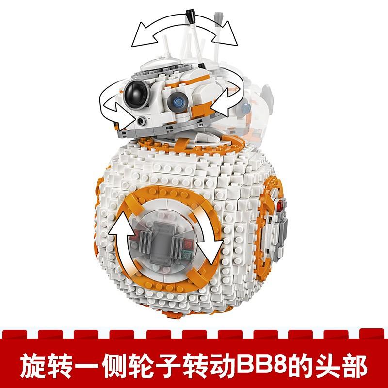 LEGO樂高75187星球大戰系列BB-8機器人bb8積木人仔玩具男孩8-14歲