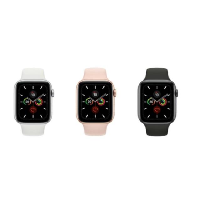 Apple Watch Series 5 44mm/GPS  鋁金屬錶殼配運動型錶帶。原廠公司貨。全新未拆。【騰購國際】