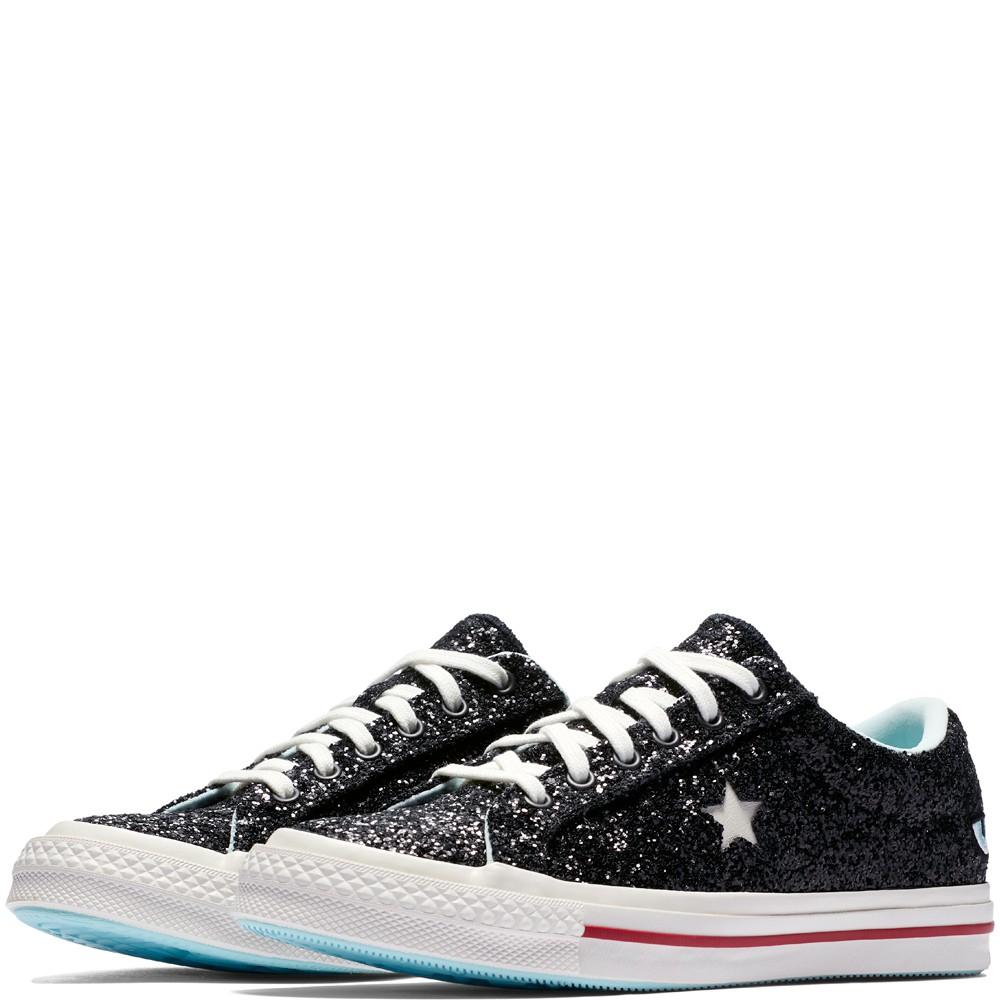 【Footwear Corner 鞋角 】Converse x Chiara Ferragni 黑亮片單眼睛休閒鞋