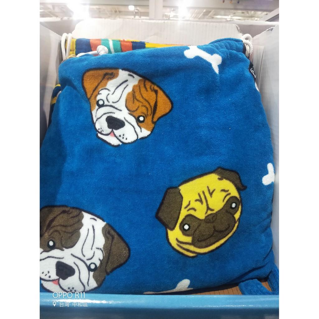 【小新代購】Costco好市多 背包式海灘巾 86 X 160 公分 - 動物狂歡