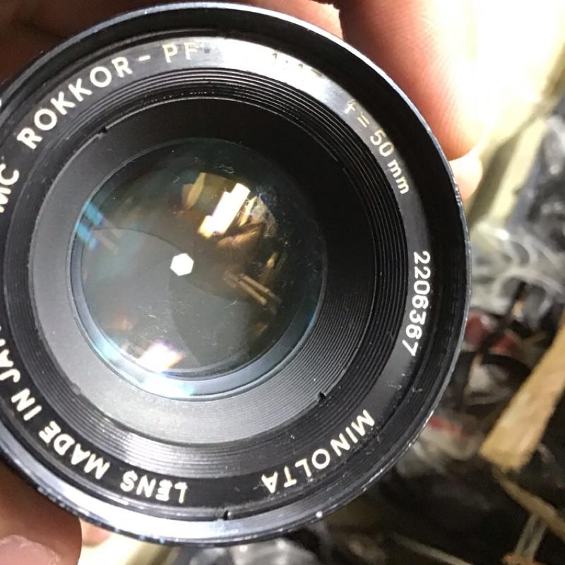鏡頭 Minolta 50mm f1.7 md 含前蓋 無後蓋 手動