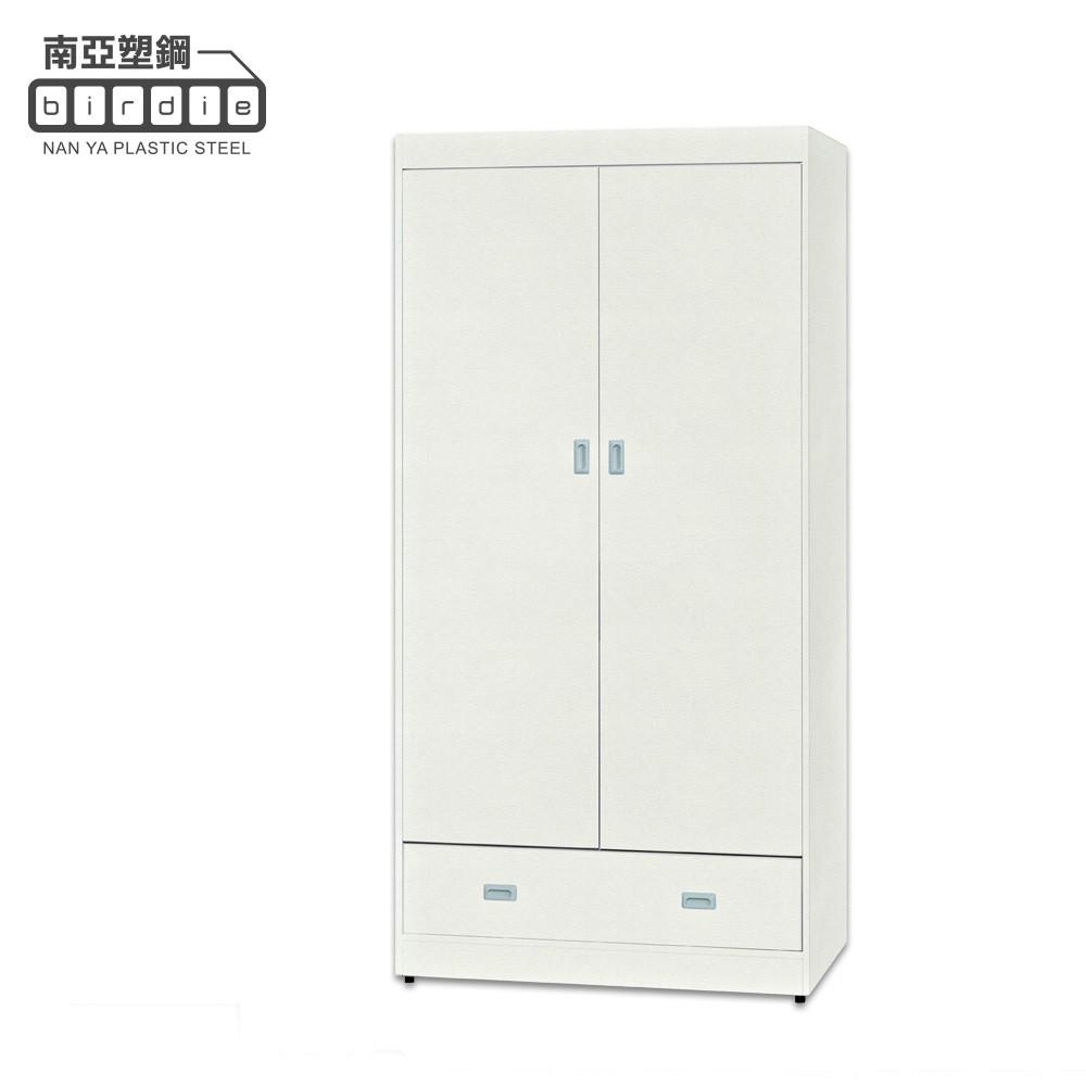【南亞塑鋼】GI系列-雙開門一抽衣櫃