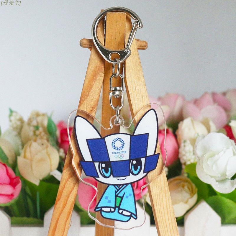 奧運熱賣🔥為中華健兒加油 東京奧運會亞克力鑰匙扣掛件Miraitowa Someity 吉祥物2020書包
