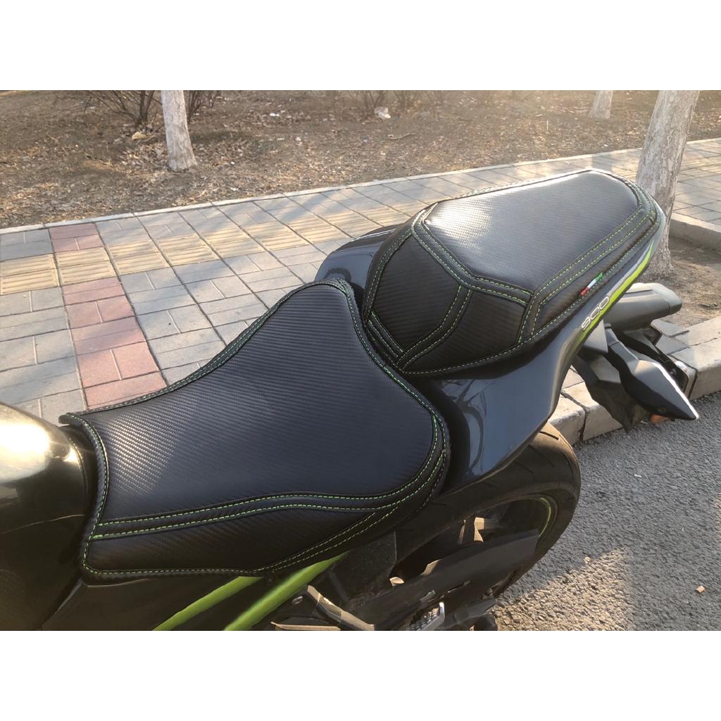 【優質現貨】適用於川崎摩托車 坐墊套 改裝Z900 Z800 Z650 Z400 Z250 碳釬維坐墊套 加厚加軟 防水