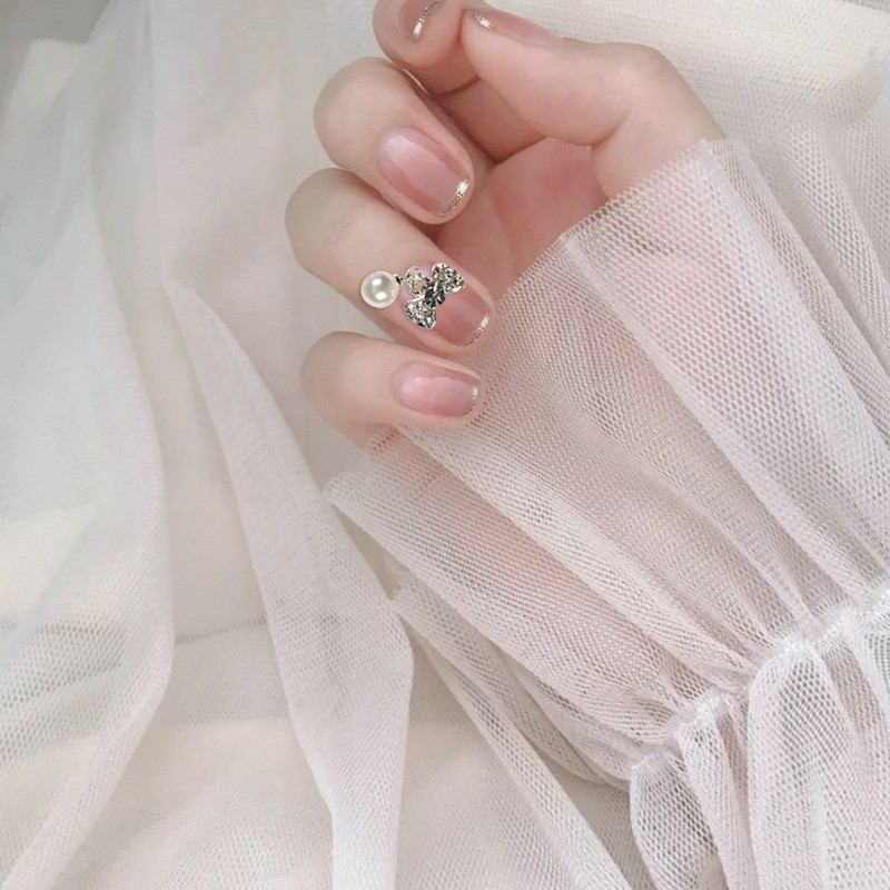指甲貼片 一撕即貼 秒貼甲片 輕奢法式 穿戴式 可重複使用 NWP0063【買1送5配件】