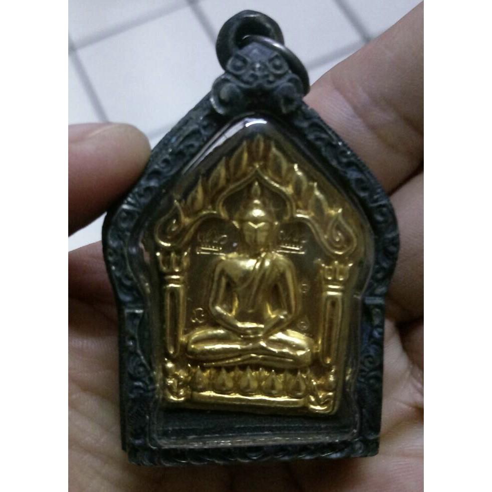 龍婆添(Tim)2517銀鎏金坤平~正面有二個廟印三個印記(外包老銀殼)