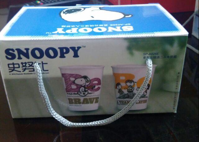 ☆ SNOOPY 史努比悅活二入陶瓷水杯組 ☆