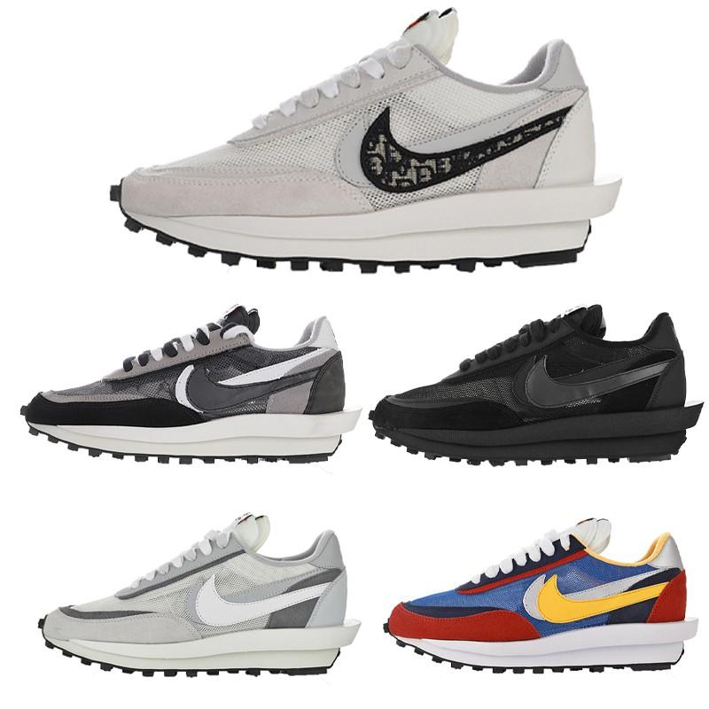 Sacai x Nike 聯名 解構 高質量 跑鞋 Sacai x Dior聯名款 雙勾耐吉 男女鞋