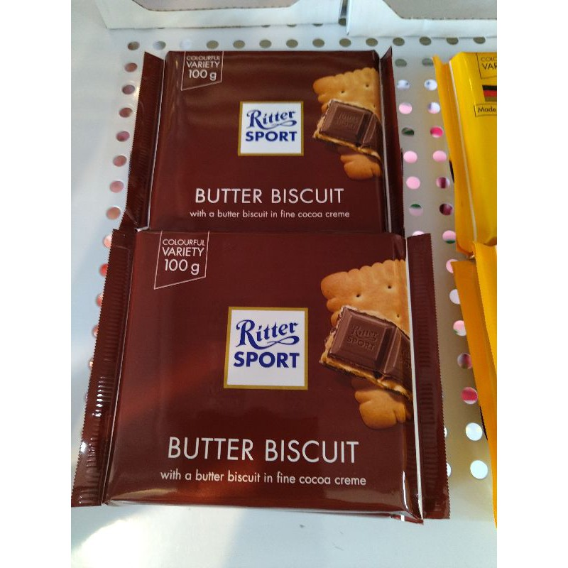 Ritter sport  力特律 奶油餅夾心巧克力 100克