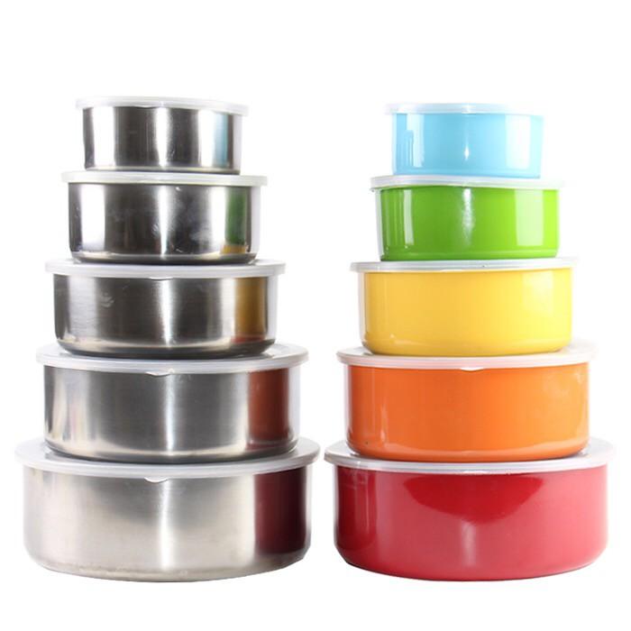 *畅销*不銹鋼保鮮盒泡面碗帶蓋密封保鮮碗飯盒收納盒學生便當冰箱收納盒