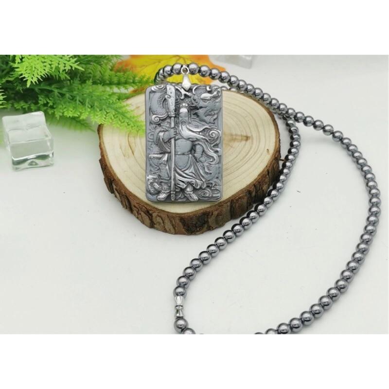 日本正品 鈦赫茲關公 三太子 項鍊 佛牌 太赫茲 6m珠子 可融冰 舒壓能量