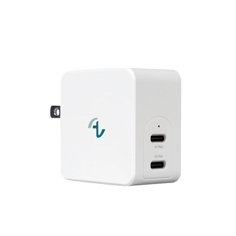 Allite GaN 氮化鎵 USB-C 雙孔  65W 快充頭 閃充 萬國充 switch type C 大功率