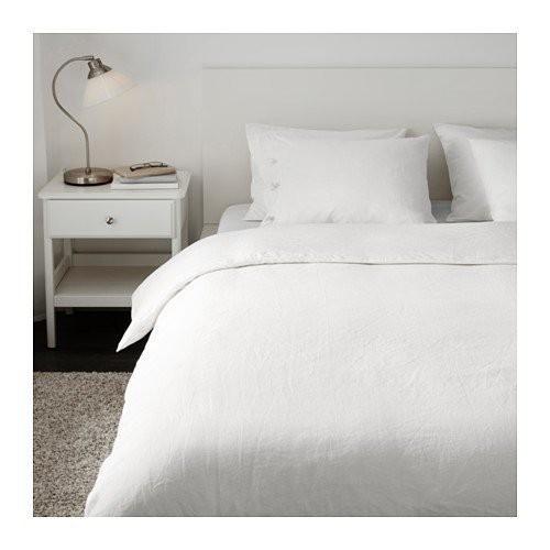 被被達人☆╮【IKEA】LINBLOMMA亞麻 單人被套組-純白色/飯店民宿住宿券都省了