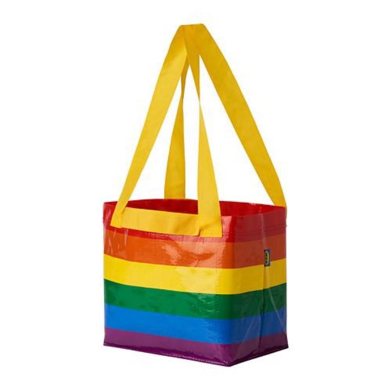 IKEA彩色環保購物袋 彩虹購物袋 購物袋 分類袋