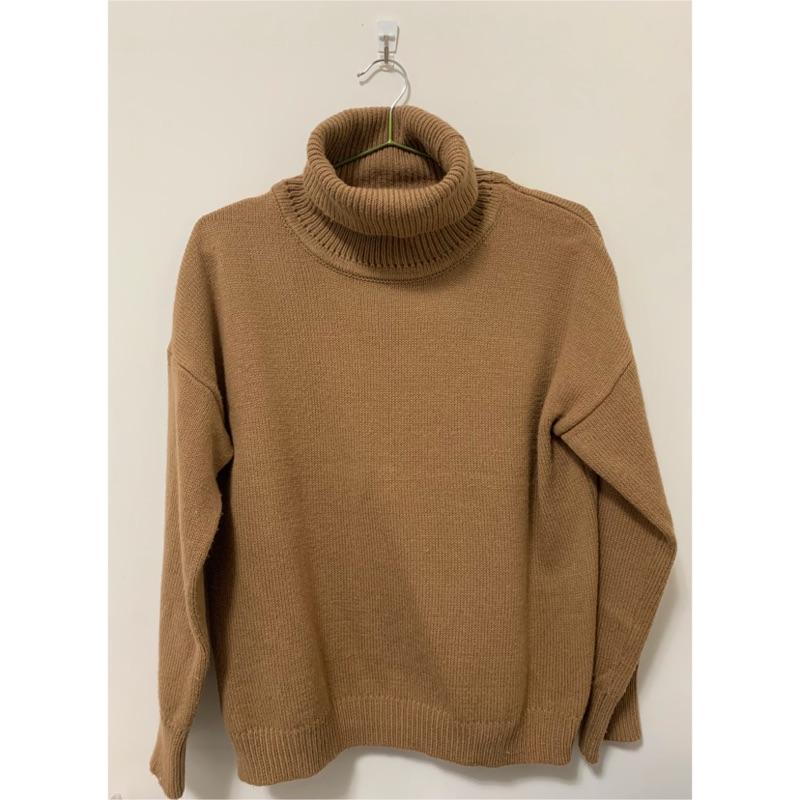 秋冬必備素色高領長袖毛衣