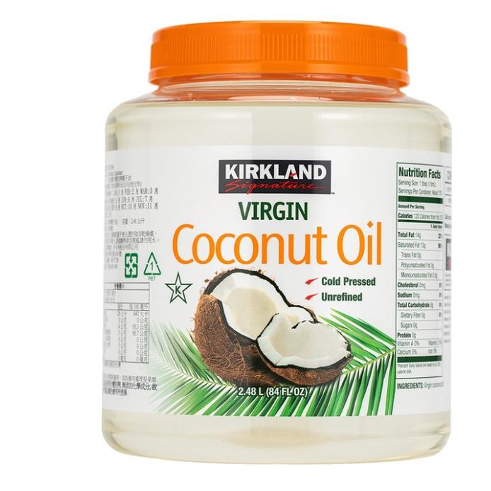 社團狂推 流動快請先問#1076366⭐️好市多代購⭐️Kirkland 科克蘭 冷壓初榨椰子油 2.48公升