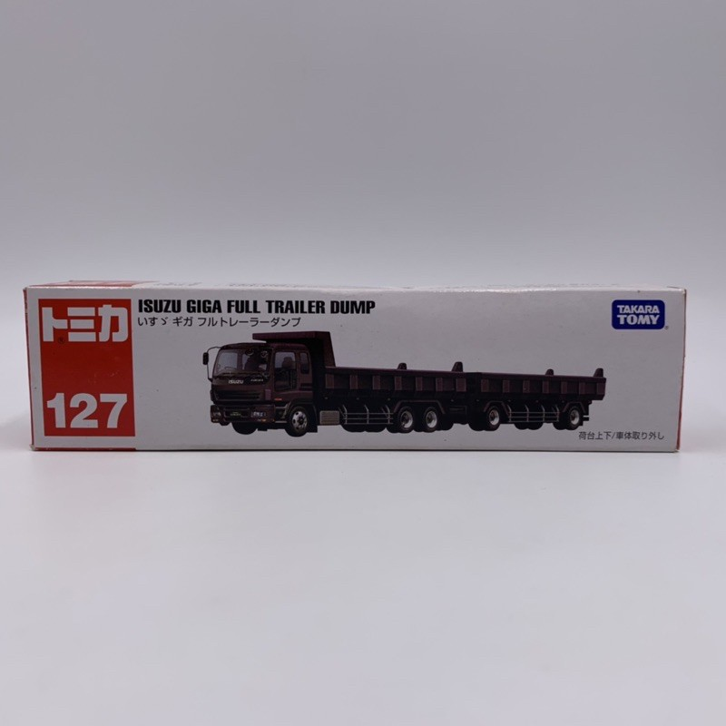 Tomica No.127 ISUZU GIGA FULL TRAILER DUMP