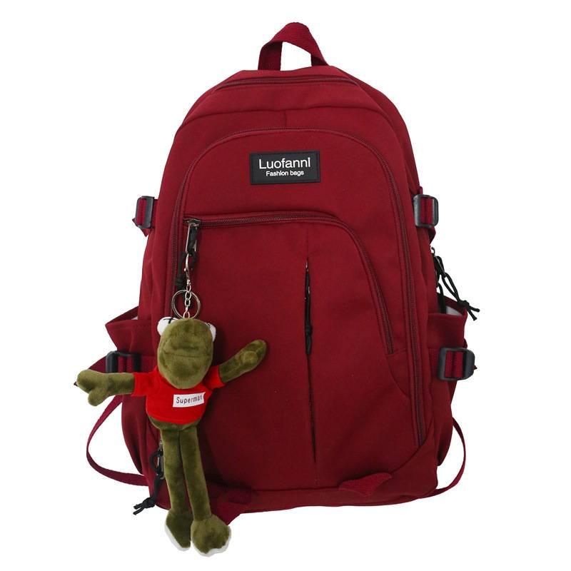 免運 男女款雙肩包 情侶後背包 純色大容量書包 初中學生書包 男女戶外旅行背包 手提雙肩包 四色可選