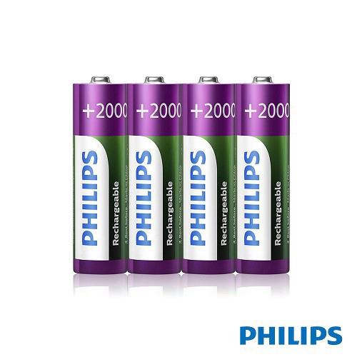 【PHILIPS】飛利浦 低自放充電電池 3號 4顆入 [富廉網]