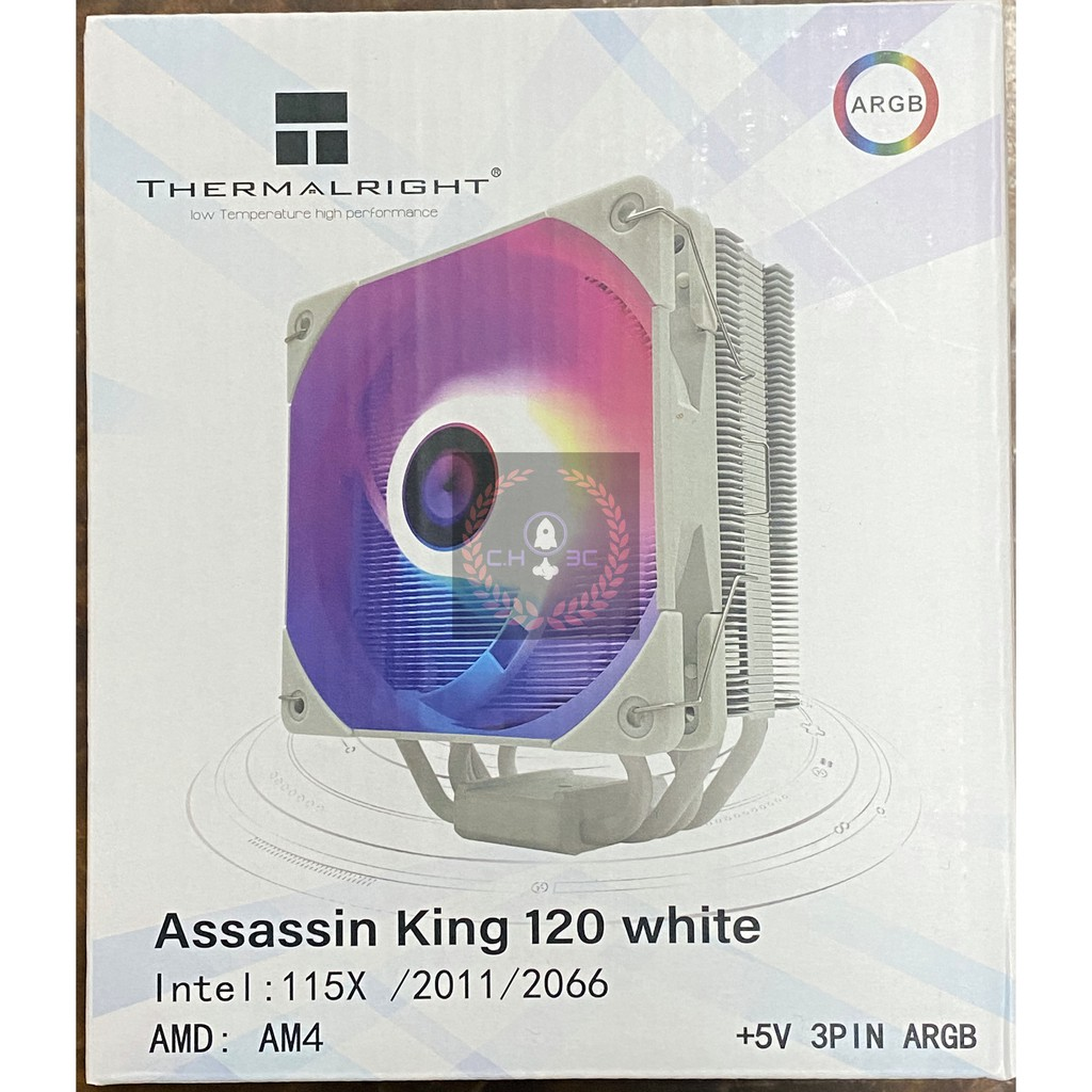 【現貨】利民 AK120 黑化 白化 CPU 塔散 Assassin KING 120 散熱器 塔扇 as120