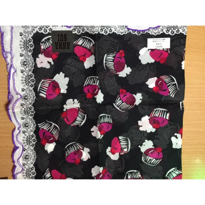 Anna Sui 小型絲巾 限量花色夢幻甜點