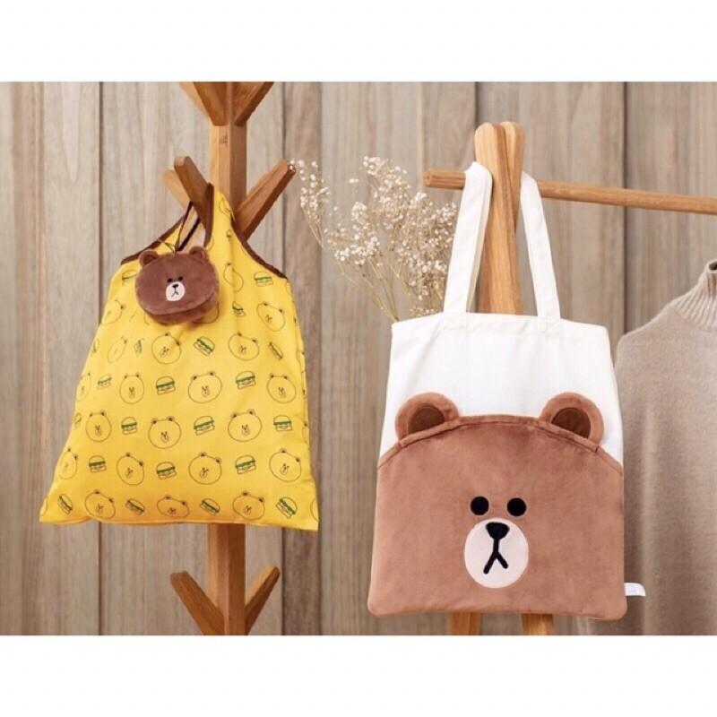 現貨* 麥當勞 熊大雙層帆布包 熊大摺疊手提袋