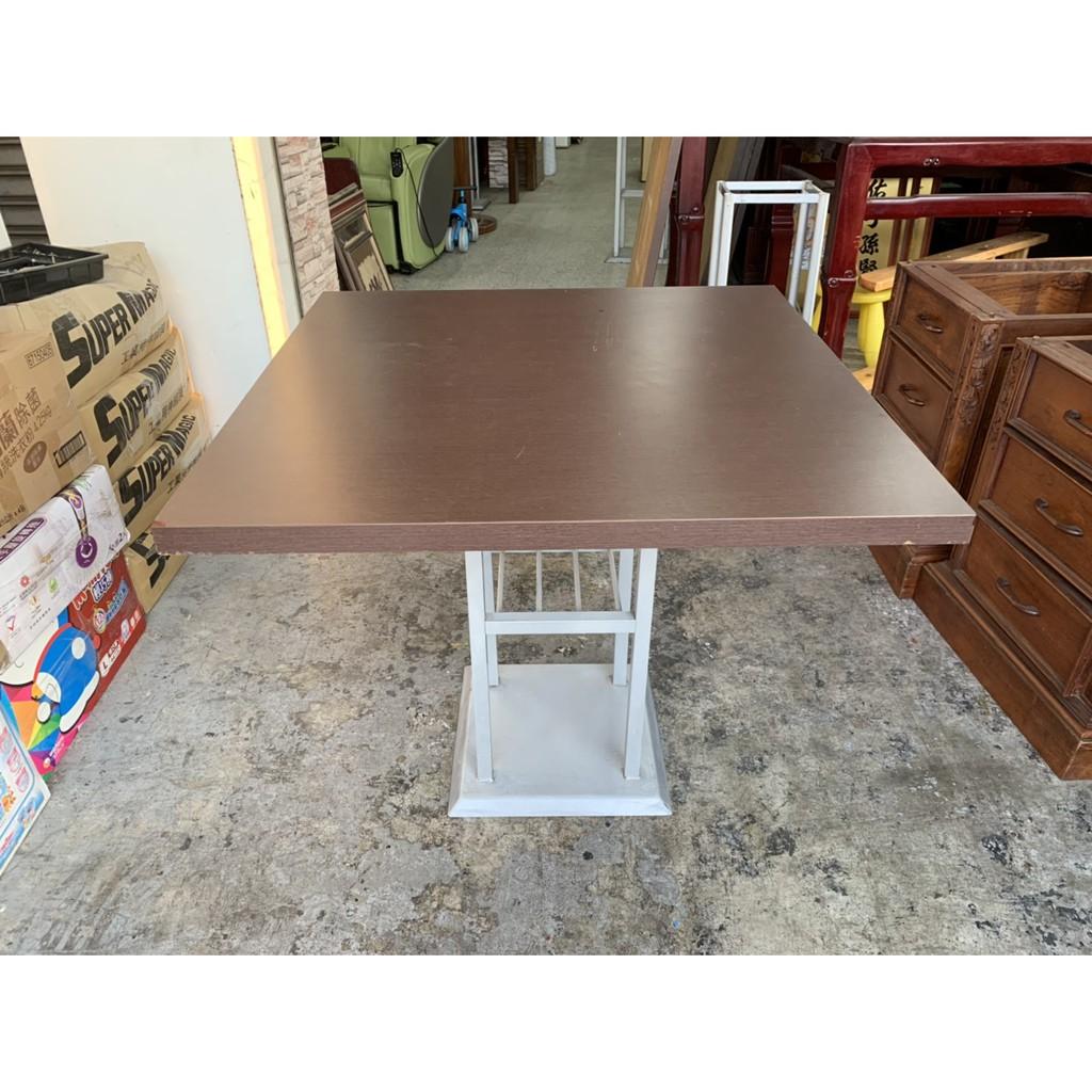 香榭二手家具*胡桃美耐板2.8尺 正方形簡餐桌-吃飯桌-小吃桌-火鍋桌-餐廳桌-營業桌-咖啡桌-戶外桌-早餐店-中古餐桌