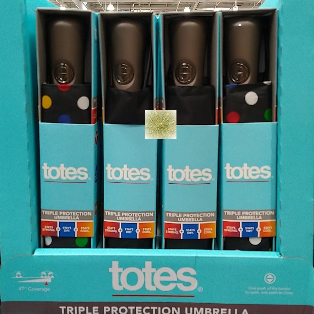Totes 雨傘-黑色/Totes 雨傘-點點Totes Umbrella自動開收傘《宅配免運》好市多線上代購限時特價