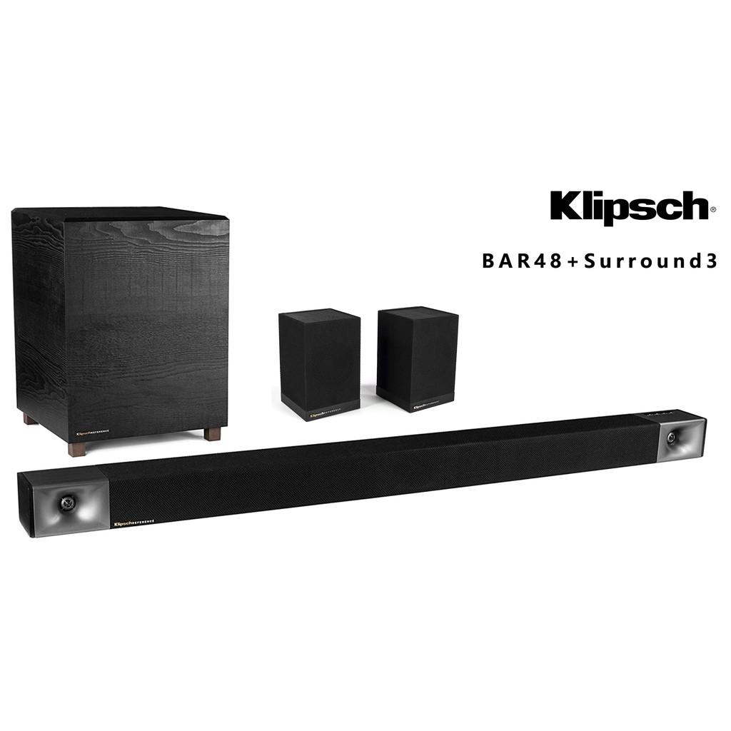 Klipsch 古力奇 BAR48 + SURROUND3 無線聲霸