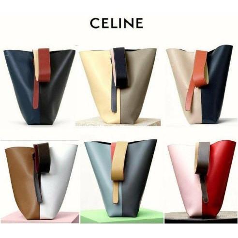 《二手》Celine Twisted Cabas 拼色可調節 手提包 水桶包 肩背包 寬肩帶 現貨