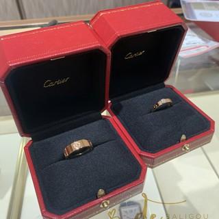 代購 Cartier卡地亞 經典款LOVE 寬窄版18K金 鑲鑽戒指 男女對戒婚戒 鈦鋼戒指 禮物首選