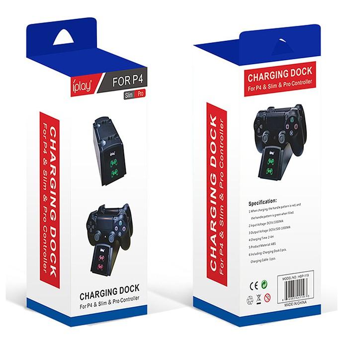 SONY PS4 雙手把控制器充電座(自動亮燈提醒)【PS4周邊*伊莎米】全新 免運費