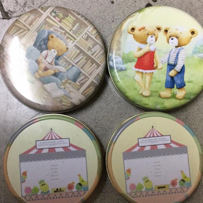 聰明小熊餅乾鐡盒x2