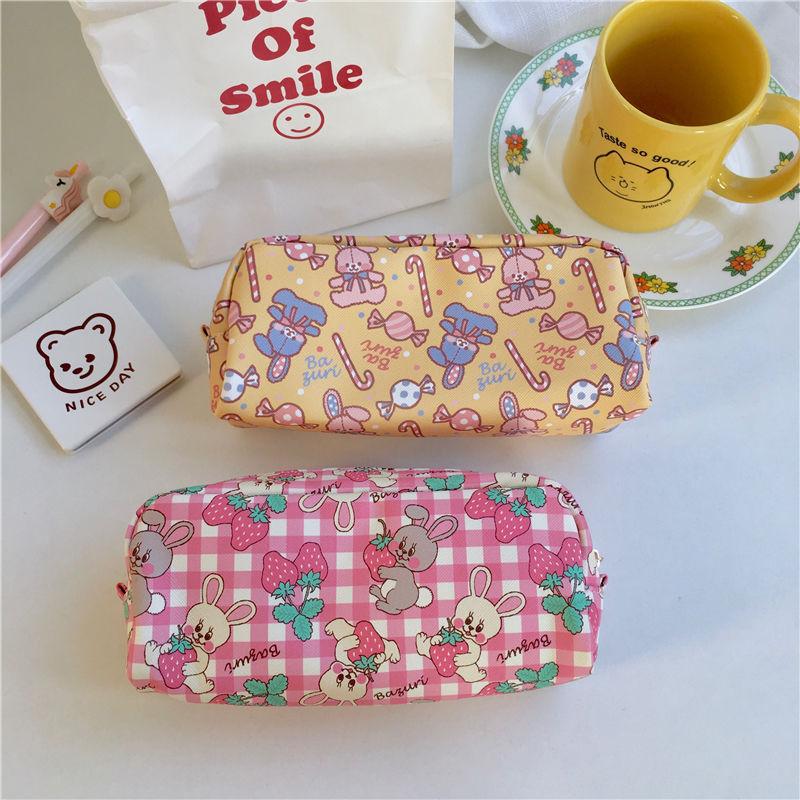 筆袋 文具收納 ins韓版網紅文具盒 小初中學生 鉛筆袋 日系筆袋 可愛大容量拉鍊簡約鉛筆盒 創意鉛筆盒 化妝袋