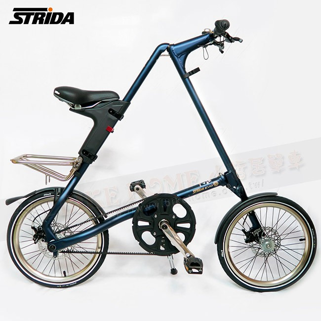 STRiDA 速立達 18吋 3速 EVO版 折疊自行車 三角形單車 (碟剎)-霧藍色