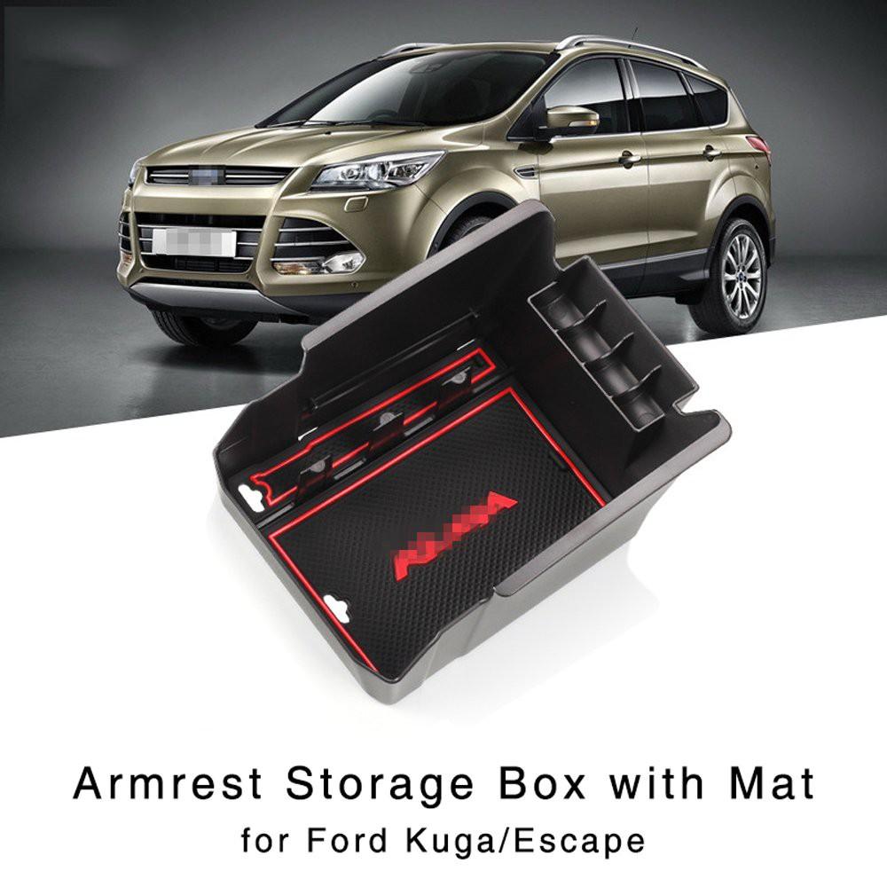 福特Kuga Escape 2013-2015中央控制台手套托盤的扶手儲物盒