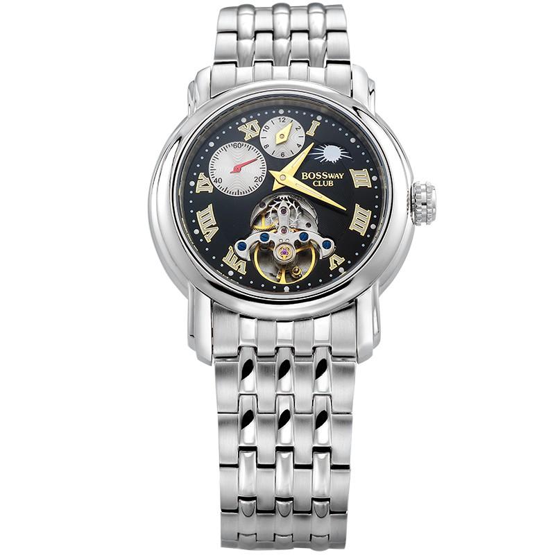 【BOSSWAY】品味玩家機械錶(黑-45mm)
