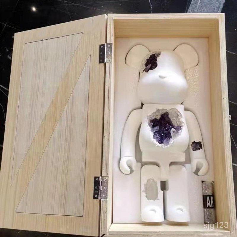 庫柏力克熊 暴力熊bearbrick積木熊水晶熊定製公仔擺件玩偶新款潮玩盲盒1000%