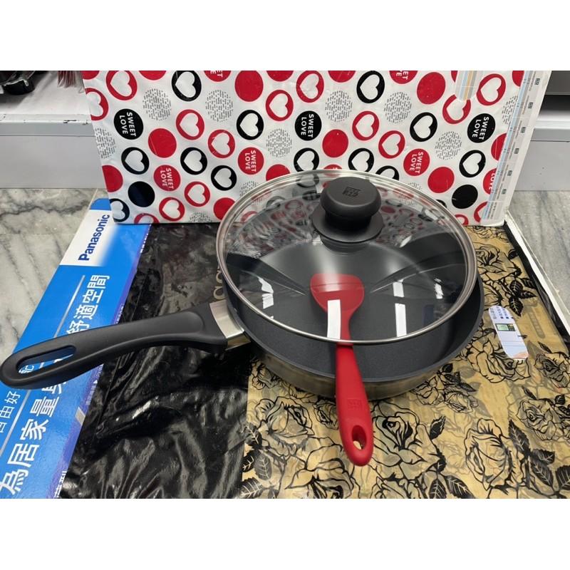 威宏電器有限公司 - 雙人牌 ZWILLING MOTION L 平煎鍋含蓋26CM+矽膠鍋鏟CW-SP2101